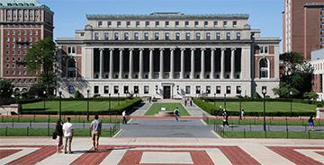 Picture of Columbia University's Butler Library as seen from across campus.